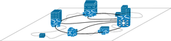 A sample overlay network