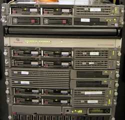 A rack of                                 servers                                from 2006