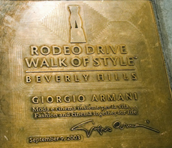 Giorgio Armani Honor at the Walk of Style, Beverly Hills