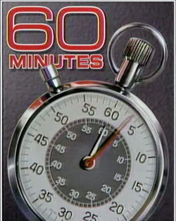 Since 1968, the opening of                                 60 Minutes                                features a stopwatch.                                                   [7]                                                 The Aristo (Heuer) design first appeared in 1978. On October 29, 2006, the background changed to red, the title text color changed to white, and the stopwatch was shifted to the upright position. This version was used from 1992 to 2006 (the                                 Eurostile                                font text was changed in 1998).