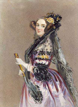 Ada Lovelace is credited with writing the first algorithm intended for processing on a computer.