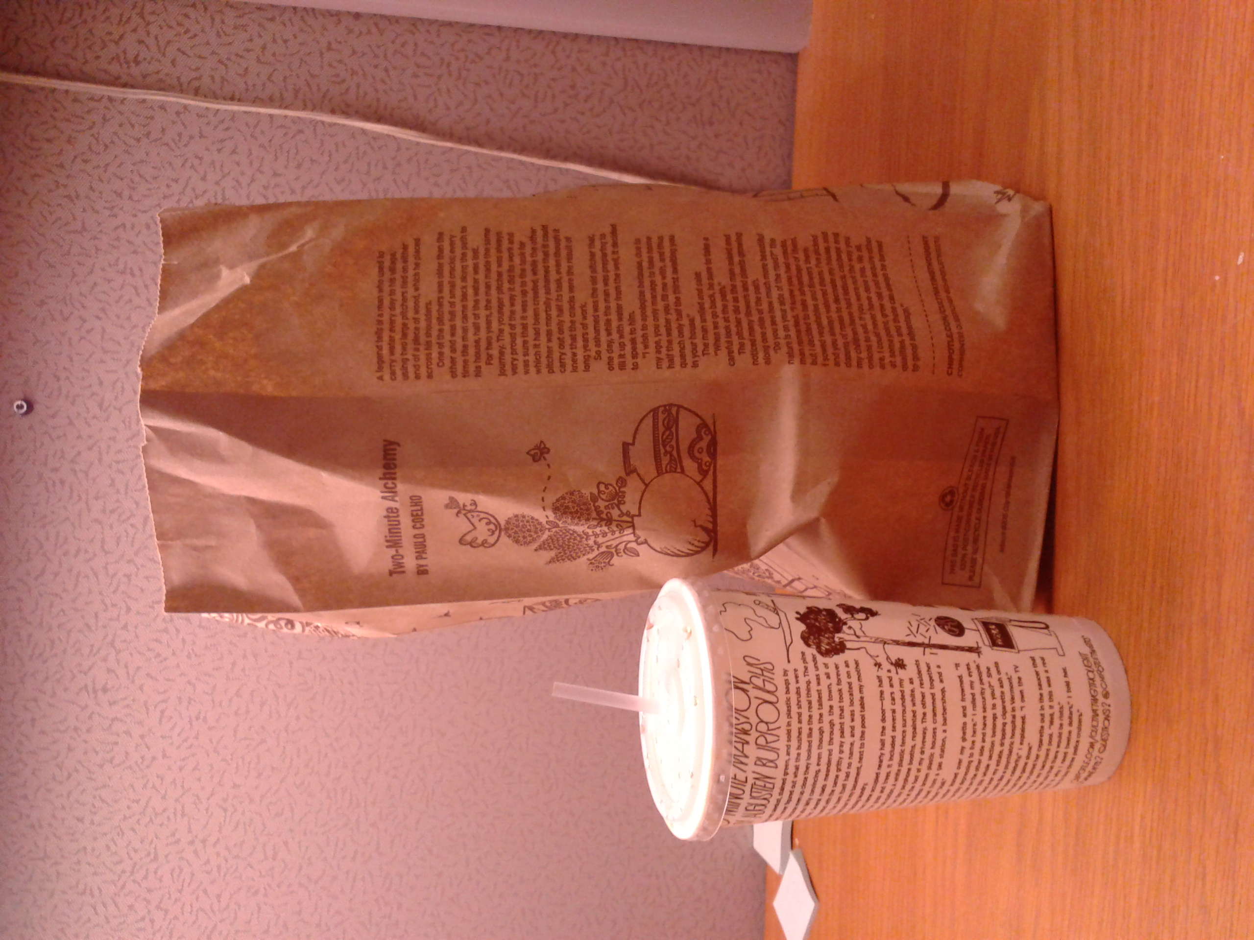 """Cup and bag from the """"Cultivating Thought"""" series, featuring the work of Paulo Coelho and Augusten Burroughs"""