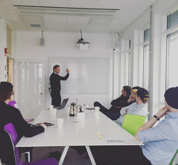 Lecture about CRO at NOGA's headquarters in                               Jönköping.
