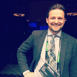 NOGA's Emil Tigerlantz at Webbdagarna in Gothenburg.