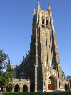 Duke Chapel, an icon for the university, can seat nearly 1,600 people and contains a 5,200-pipe organ.