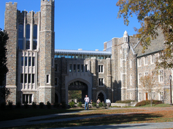 Entrance to Bostock Library, which opened in the fall of 2005