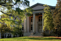 The West Duke Building on East Campus replaced the destroyed Washington Duke Building.