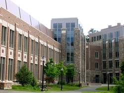 The Fitzpatrick Center is home to many of Duke's engineering programs.