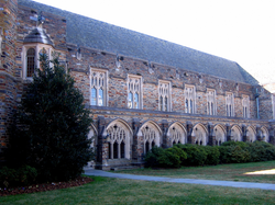 Duke's West Campus Union building has restaurants, offices, and some administrative departments. The Chronicle ' s editorial office, the Mary Lou Williams Center for Black Culture, and the Center for LGBT Life are all located in the Union.