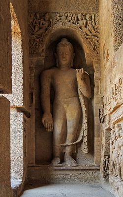 Kanheri Caves served as a centre of Buddhism in Western India during ancient times
