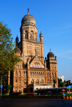 Headquarters of the Municipal Corporation of Greater Mumbai (MCGM). The MCGM is the largest civic organisation in the country.