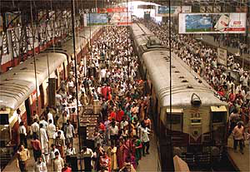 The Mumbai Suburban Railway system carries more than 6.99 million commuters on a daily basis. It has the highest passenger density of any urban railway system in the world.