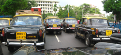 The black and yellow Premier Padmini Taxis are iconic of Mumbai.