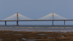 The Bandra-Worli Sea Link is a cable-stayed bridge that connects central Mumbai with its western suburbs
