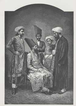 """Parsis of Bombay"", a wood engraving, ca. 1878. Mumbai is home to the largest population of Parsis in the world."