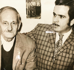 Moghadam with his father.
