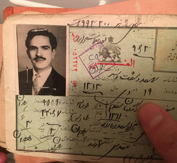 Moghadam's driver's license from Iran.