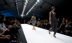 Fashion models on the runway in 2008