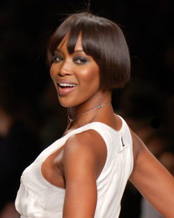 Naomi Campbell, one of the most famous supermodels.