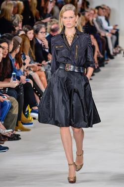 Anna Ewers walking the runway for Ralph Lauren