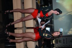 Promotional models at Games Day in Kiev, 2011