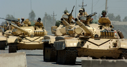 Iraqi Army                                                 T-72                                M main battle tanks. The T-72M tank was a common Iraqi battle tank used in the Gulf War.