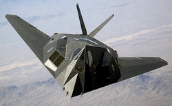 The                                 USAF                                                 F-117 Nighthawk                                , one of the key players in Desert Storm.