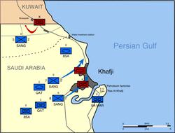 Military operations during Khafji's liberation