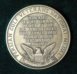 Persian Gulf Veterans National Medal of the U.S. military.