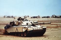 British Army                                                 Challenger 1                                main battle tank during Operation Desert Storm.
