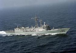 HMAS Sydney                                in the Persian Gulf in 1991.