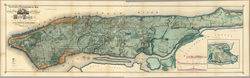 """The """"Sanitary & Topographical Map of the City and Island of New York"""", commonly known as the Viele Map, was created by Egbert Ludovicus Viele in 1865"""