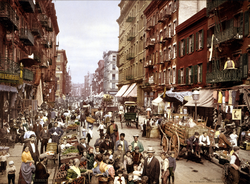 Manhattan's Little Italy, Lower East Side, circa 1900