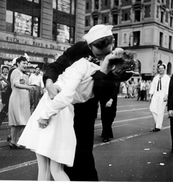 Victory over Japan Day in Times Square, 1945
