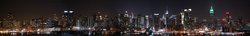 Upper Manhattan and Midtown Manhattan as seen from Weehawken, New Jersey. (January 2010)