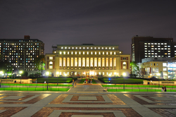 Butler Library at Columbia University, described as one of the most beautiful college libraries in the United States