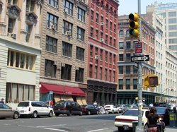 Loft buildings (now apartments) in TriBeCa
