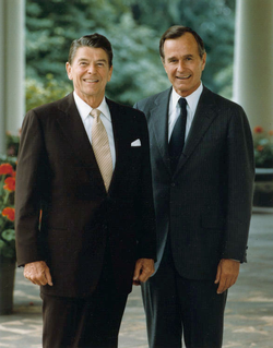 Bush with President Ronald Reagan