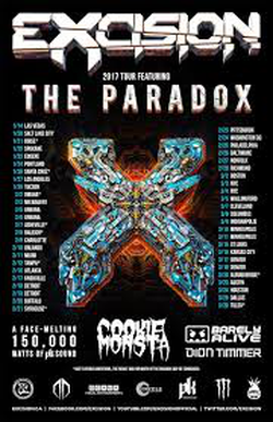 The Paradox tour poster