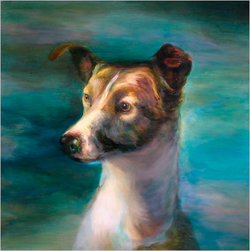 Museum of Jurassic Technology /M. A. Peers's portrait of Laika, a dog used on an early Soviet space flight. The painting is at the Museum of Jurassic Technology.  Credit Jennifer Bastian
