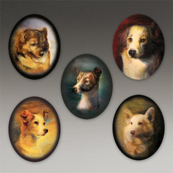 """Museum of Jurassic Technology / """"Dogs of the Soviet Space Program"""" Additional Locket Images"""