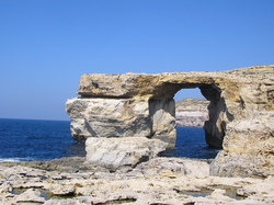 The  Azure Window  at Ras-id-Dwerja, on Gozo, was the site of the Dothraki wedding in season 1.