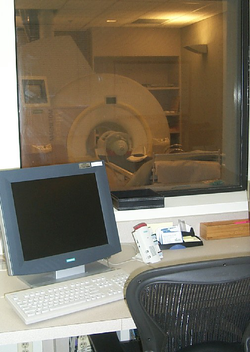 MRI                                machine used at the                                 Krasnow Institute for Advanced Study