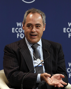Cabrera at the                                 World Economic Forum                                Annual Meeting of the New Champions in 2012