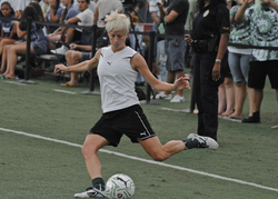 Rapinoe warming up before a magicJack match, 2011