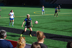 Rapinoe during a match against the                                 Boston Breakers                                , April 13, 2014