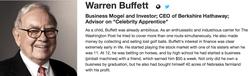 A biopic of Warren Buffet.
