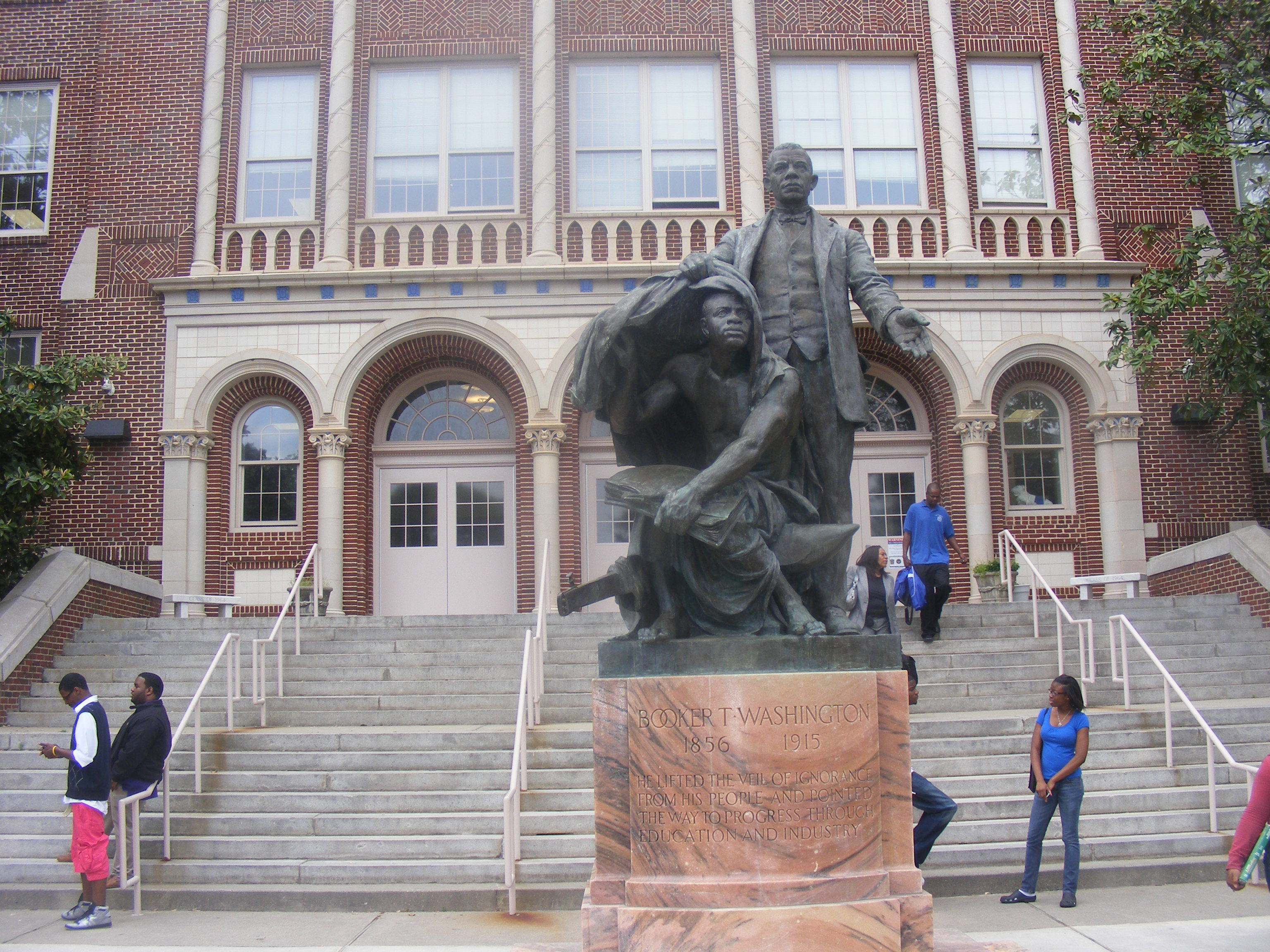 King's high school alma mater was named after African-American scholar Booker T. Washington.