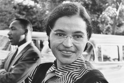 Rosa Parks with King, 1955