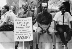 The civil rights march from Selma to Montgomery, Alabama, in 1965